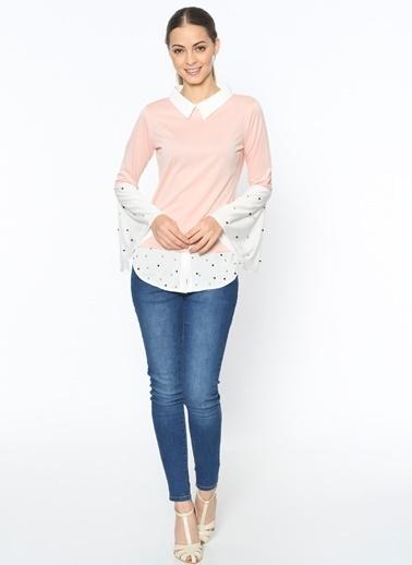 Puantiyeli Uzun Kollu Gömlek-Dewberry